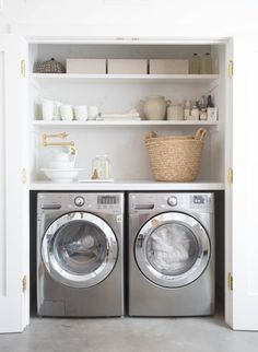 Home Decor: Laundry Room Decorating Ideas To Help Organize Space. Home Decor: Laundry Room Decorating Ideas To Help Organize Space. The post Home Decor: Laundry Room Decorating Ideas To Help Organize Space. appeared first on House. Laundry Nook, Laundry Room Remodel, Farmhouse Laundry Room, Small Laundry Rooms, Laundry Room Organization, Laundry Room Design, Laundry In Closet, Laundry Decor, Closet Remodel
