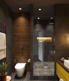 01 cool bathroom shower makeover decor ideas - Bäder - Pictures on Wall ideas Tiny Bathrooms, Tiny House Bathroom, Bathroom Layout, Modern Bathroom Design, Beautiful Bathrooms, Bathroom Interior Design, Small Bathroom, Bathroom Ideas, Shower Ideas