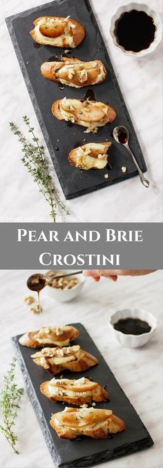 built on the classic combination of fruit cheese and nuts this pear and brie crostini is a delicious elegant and simple to make appetizer via and