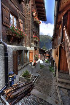 Houses in Grimentz, Valais