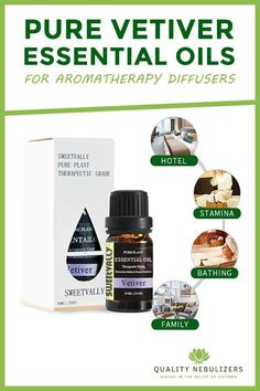 Pure Vetiver Essential Oil For Aromatherapy Diffusers Asthma Relief, Asthma Remedies, Health Remedies, Vetiver Essential Oil, Essential Oils For Headaches, Young Living Essential Oils, Oil For Headache, Oil Benefits, Allergies