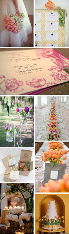 As we round out the spring wedding season and head into summer we can't help but get a little nostalgic for tulips. They are an affordable flower if you're on a budget, they come in oodles of colors, and they look great alone or in a mixed bouquet or centerpiece