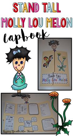 Stand Tall Molly Lou Melon lapbook activity is going to add so much to your classroom at the beginning of the school year. While enjoying this classic story, your students will be writing, answering, making connections, identifying the main idea and suppo Reading Buddies, Kids Reading, One Day Book, Teaching Character Traits, Leader In Me, Making Connections, Kindergarten Fun, Author Studies