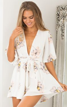 632ea9a92128 MY LOVE PLAYSUIT IN BLUSH FLORAL Floral Playsuit