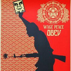 shepard fairy wage peace 2005