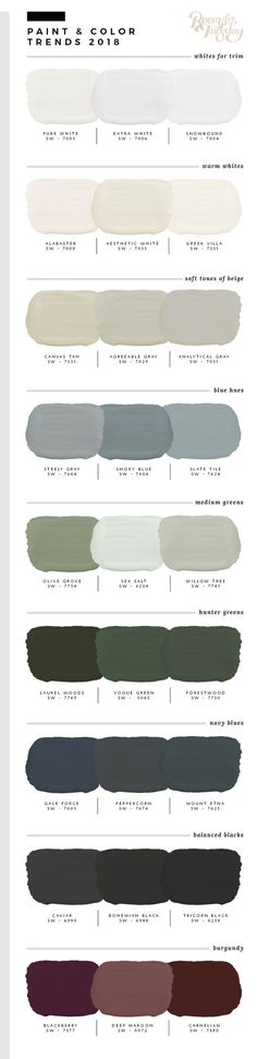 Predicted Paint Colors for 2018 Willow green house exterior - paletten - Dream houses Exterior Paint Colors For House, Interior Paint Colors, Paint Colors For Home, Paint Colours, Exterior Colors, Interior Design, Luxury Interior, Exterior Gris, Paint Schemes