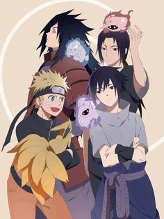 Naruto, sasuke ,itachi and madara.