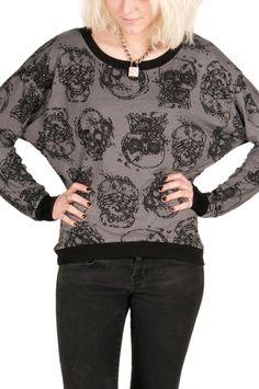 Royal Bones Skull L/S Pullover - TrashandVaudeville.com