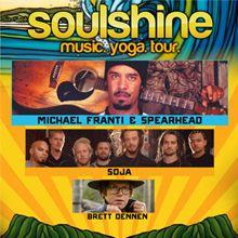 97.3 KBCO Presents The Soulshine Music Yoga Tour featuring headliner Michael Franti & Spearhead with SOJA, Brett Dennen Sun, Jul 6, 2014 at Red Rocks Amphitheatre, Morrison, Colorado