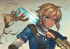 Link from the Legend of Zelda Breath of the Wild