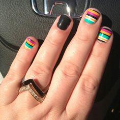 Multi Horizontal Stripe nail wraps