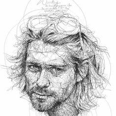 """Oeuvre by Vince Low - Célébrité """"Kurt Cobain"""""""