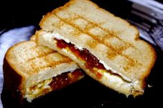 grilled cheese for breakfast | Grilled cheese for breakfast! Goat cheese and clementine marmalade ...