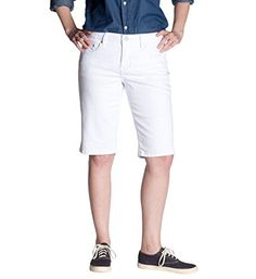 716a06b29d0 JAG Jeans Womens Willa Bermuda 0 White     Learn more by visiting the image  link.