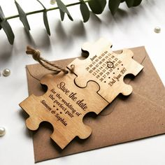 60 Trendy Wedding Invites Indian Ideas Save The Date Rustic Save The Dates, Wedding Save The Dates, Save The Date Cards, Our Wedding, Save The Date Designs, Indian Wedding Invitations, Wooden Puzzles, Trendy Wedding, Wedding Cards