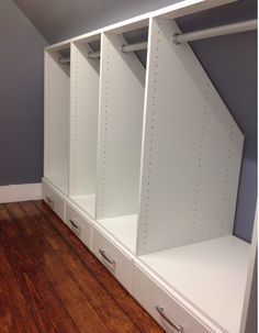Closet in eaves