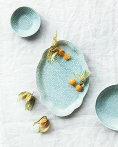 Floral dessert plate / Assiette à dessert à motif floral – atelier make