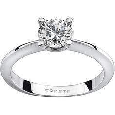 Comete Anello solitario donna in oro bianco 750/°°° con diamanti- ANB1847