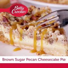 No Bake Desserts, Easy Desserts, Delicious Desserts, Dessert Recipes, Yummy Food, Pecan Pie Cheesecake, Cheesecake Recipes, Classic Cheesecake, Strawberry Cheesecake