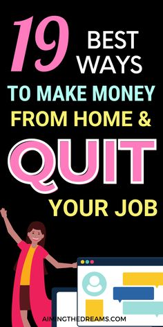 Ways To Earn Money, Earn Money From Home, Way To Make Money, Make Money Online, Self Employed Jobs, Best Survey Sites, Teaching English Online, Social Media Services, Quitting Your Job