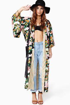 $198 Rayon Nasty Gal /vintage PRICE COMPARE Sublime Garden Kimono