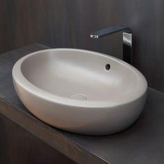 On top washbasin 60 White Fluid - Wash basin White bathroom Ceramica Cielo White Bathroom, Master Bathroom, Fluid Design, Sweet Home, House Design, Home Decor, Sinks, Magenta, Projects