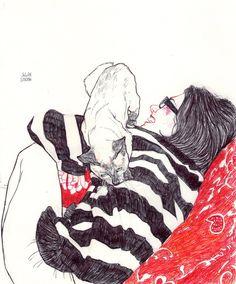 Canetas e garotas sensuais por Julian Landini
