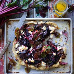 I Quit Sugar - Roast Beetroot, Garlic and Chia Seed Tart