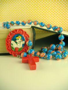 Wonderwoman Pendant / Necklace, Rosary