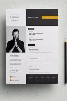 Features: 1 PSD file CMYK Mode Print Ready Psd File format Well Layered Easy to use & customize If you like this cv template. Check others on my CV template board :) Thanks for sharing! Portfolio Resume, Design Portfolio Layout, Layout Design, Web Design, Design Trends, Resume Design Template, Resume Templates, Modern Cv Template, Cv Resume Template