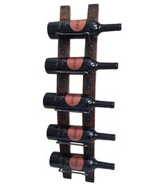Add rustic charm to your wall with our wall mounted wine racks made from reclaimed Wine Barrel Staves. Skillfully handcrafted from retired white oak wood barrels from the wine regions of California. A