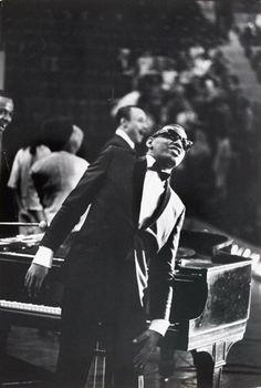 Bill Ray  Ray Charles, 1966  black and white photograph