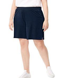 01410560191 Just My Size Women`s Plus-Size Cotton Jersey Pocket Shorts