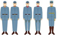 1908 Model uniforms. Summer linen, 'stand and fall' collar (left) and winter, wool, high collar (right). No variant for Officers.  Only remaining distinctions between German and Hungarian were the different trouser for Hungarian enlisted and NCOs. Left to right: Enlisted: Infantry Nr. 59 NCO: Infantry Nr.39 (Hungarian)  Officer: Infantry Nr.27