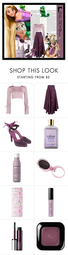 """Rapunzel"" by marionmeyer ❤ liked on Polyvore featuring Cyrus, Disney, Boohoo, TIBI, Gucci, RAHUA, Living Proof, Charlotte Russe, Conair and Bobbi Brown Cosmetics"
