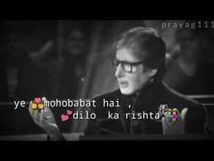 Best heart 💓 touching WhatsApp status || Amitab bachachan shayari status || new shayari status 2019 - YouTube
