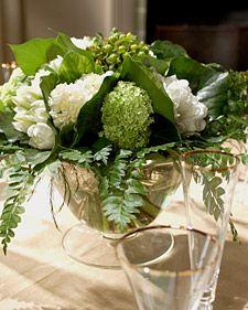 Green Centerpieces - Martha Stewart Weddings Flowers