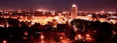 Author: Agnieszka Sęk, #Gdansk by #night. Sight from Gradowa #Mountain.