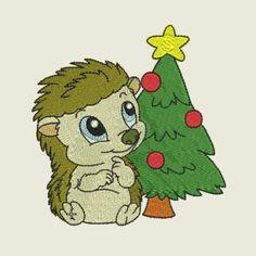 Christmas time hedgehog 08 | Spookies Treasures