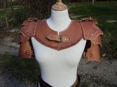 Leather spaulders and gorget by VampsFire.deviantart.com on @deviantART