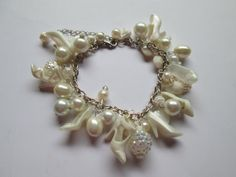 Barbie Shoe  Bracelet Pastel colored / Pearly White  / ITEM 3594