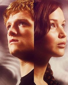 The hunger games katniss and peeta