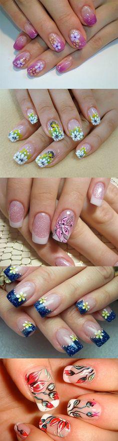 5 flowery nail art design ideas...
