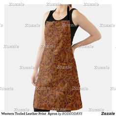 Western Kitchen Decor, Cook At Home, Summer Bbq, Leather Tooling, Apron, Cool Designs, Shopping, Style, Fashion