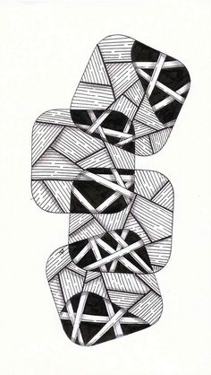 Zentangle - Bamboo squares More connecting of shapes and patterns Zentangle Drawings, Doodles Zentangles, Doodle Drawings, Sketchbook Drawings, Tangle Doodle, Zen Doodle, Doodle Art, Op Art, Zantangle Art