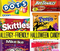 Halloween doesn't have to be a bummer for kids with food allergies. Whether you're buying for your child's class party, trick-or-treaters, or your own little monsters, pick up a bag of one of these sweets. They're all gluten free Halloween candy choices -- and also free of peanuts, tree nuts, eggs, milk, and soy. #Halloween #HalloweenCandy