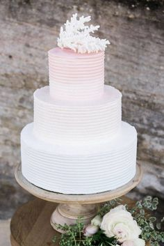 Pastel Beach Wedding Inspiration | Photo by Day One Wedding Photo…