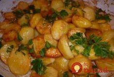 Výborné zemiačky šťavnaté a pritom fantasticky chutné a lahodné. Quiche, Ham, Shrimp, Side Dishes, Food And Drink, Chicken, Cooking, Recipes, Martha Stewart