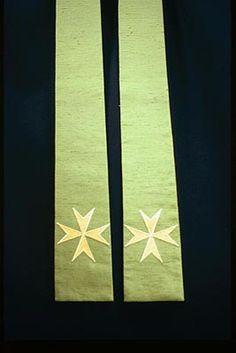 Green Liturgical Stole www.church-textiles.co.uk