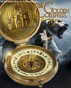 The Noble Collection: The Golden Compass authentic replica Alethiometer. this is really freaking awesome. His Dark Materials Trilogy, Steampunk Movies, The Golden Compass, Horror Themes, Alternate History, Old Tools, Movies And Tv Shows, Soundtrack, Good Books